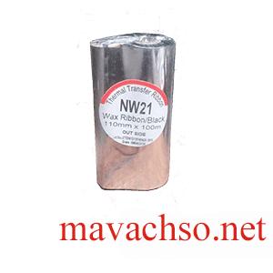 Mực in mã vạch wax kích thước 110x100m